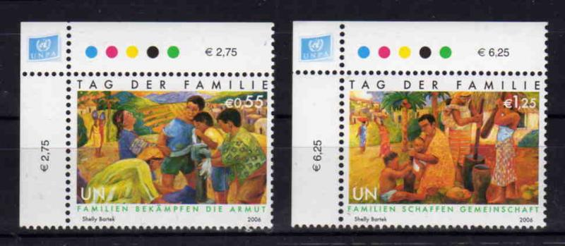 United Nations Vienna - Int.Day of Families , MNH, Mi 465-466