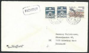 GB DENMARK 1975 ship cover HARWICH PAQUEBOT................................61236