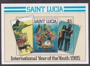 St.Lucia # 795, Abstracts by Lyndon Samuel, Souvenir Sheet, NH, 1/2 Cat.