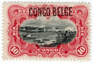(I.B) Belgian Congo Postal : Native Canoes 10c