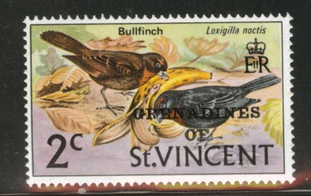 Grenadines of St. Vincent First set Scott 5 MNH** Bird OPT