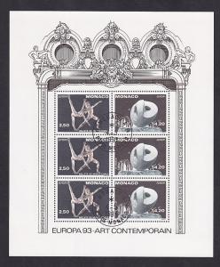 Monaco  #1861a-1862a   cancelled 1993  Europa  sheet  ballet    sculpture