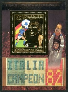 1983 Central African Republic 934/B235gold 1982 FIFA World Cup in Spain