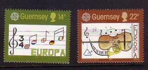 Guernsey Sc 314-5 1985 Europa stamps mint NH