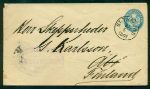 DANISH WEST INDIES 1891 2¢ env tied St Thomas to FINLAND via ship AUS WESTINDIEN