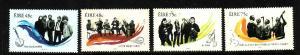 Ireland-Sc#1691-4-unused NH set-Traditional Irish Music Groups-2006-