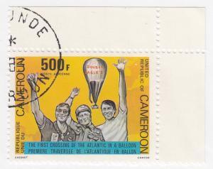 Cameroon, C285, CTO-NH, 1983, Baloon crossing of the Atlantic