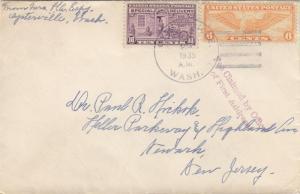 1935, Oysterville, WA to Newark, NJ, See Remark (23854)