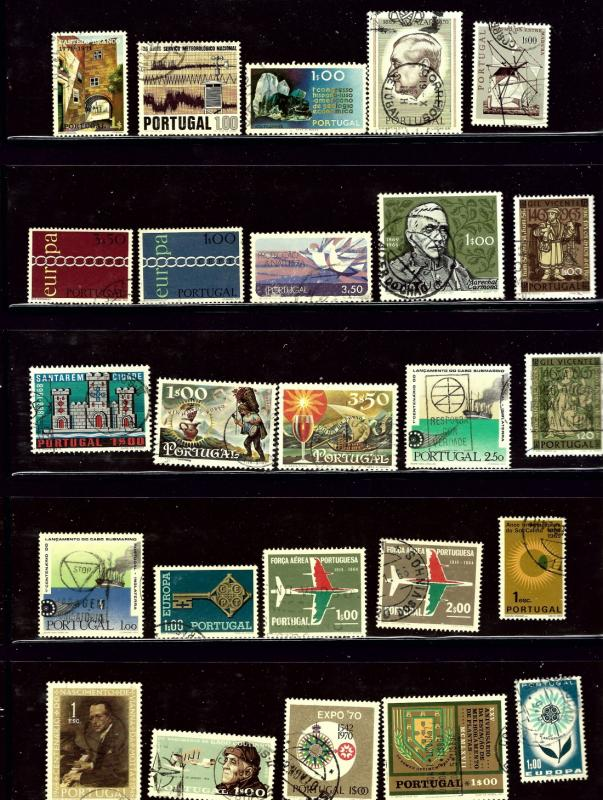 Portugal 25 different used stamps
