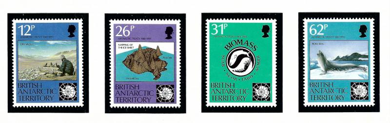 British Antarctic Territory 180-83 MNH 1991 Anarctic Treaty Anniv
