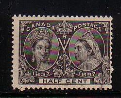 Canada 1897 1/2c black Victoria Jubilee issue stamp used