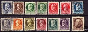 BAVARIA 1914 KING LUDWIG PART SET TO 1m FU