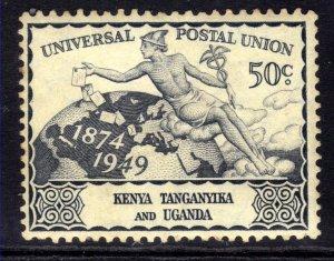 Kenya Tanganyika KUT 1949 KGV1 50ct Blue UPU MM SG 161 ( J491 )