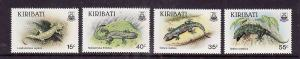Kiribati-Sc#480-3-Unused NH set-Lizards-1986-please note there is a spot of gum