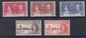 ANTIGUA  1937 - 46   CORONATION & VICTORY SETS  M H