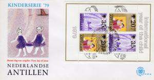 Netherlands Antilles 1979 Sc#B170a  YEAR OF THE CHILD (IYC) S/S FDC