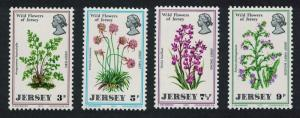 Jersey Orchids Wild Flowers of Jersey 4v SG#69-72 MI#61-64
