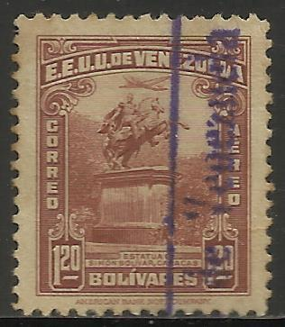 Venezuela Air Mail 1943 Scott# C157 Used