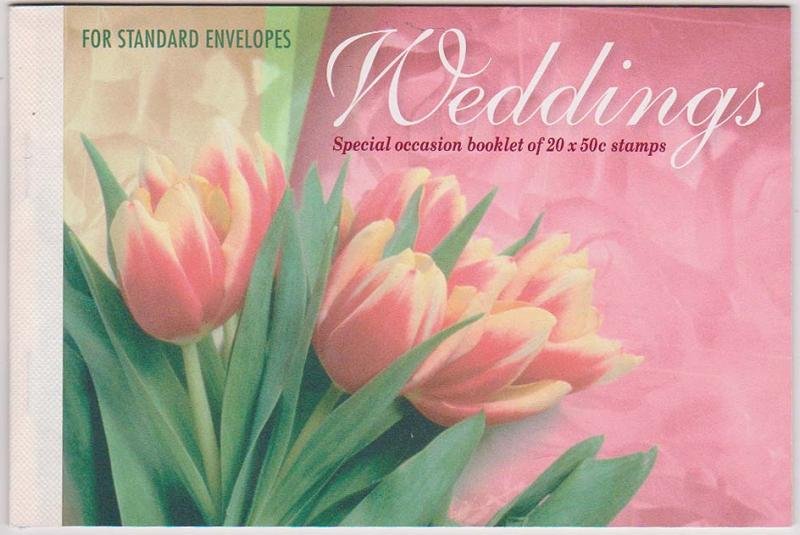 Australia 2015 Scott #2116a 2003 Weddings Complete Booklet VF-NH