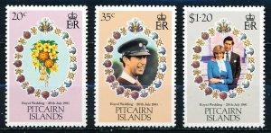 Pitcairn Islands #206-208  Set of 3 MNH
