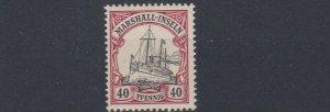 MARSHALL  ISLANDS 1901   S G  G17   40PF  BLACK & CARMINE    MNH  NO2