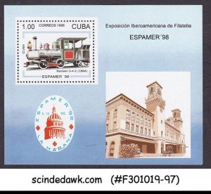 CUBA - 1997 ESPAMER '98 - TRAINS LOCOMOTIVE MIN/SHT MNH