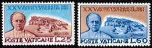 Vatican City SC#174-175 25£ & 60£ Pius XI and the Vatican City (1954) MNH