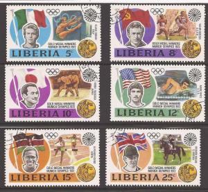 Liberia 616-621 Used VF