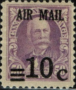 CANAL ZONE #C4 1929 10c AIRMAIL SURCHARGE ON 50c REGULAR ISSUE MINT-OG/LH