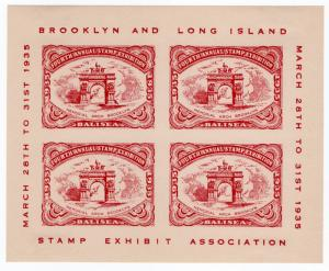 (I.B) US Cinderella : Brooklyn & Long Island Stamp Exhibition (1935)