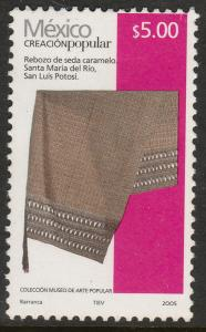 MEXICO 2493, $5.00P HANDCRAFTS 2005 ISSUE. MINT, NH. F-VF.