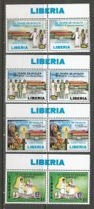 LIBERIA 1097-1100 MNH PAIRS L925