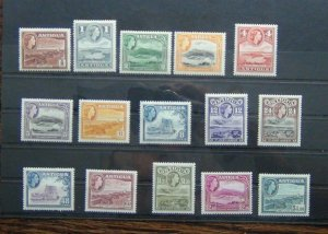 Antigua 1953 - 1962 set to $4.80 MM SG120a - SG134