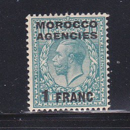 Great Britain Offices In Morocco 409 MNH Surcharge