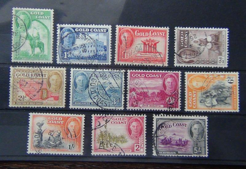 Gold Coast 1948 set to 5s Fine Used