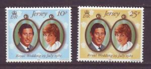 Jersey Sc 280-1 1981 Charles Diana stamps NH