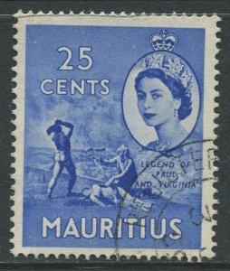 STAMP STATION PERTH Mauritius #258 QEII Definitive Issue FU 1953-1954