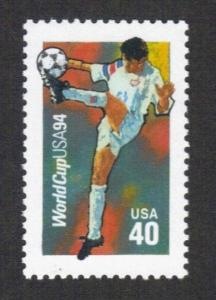 2835 World Cup Soccer US Single Mint/NH FREE SHIPPING