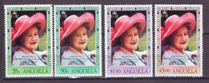 J22368 Jlstamps 1980 anguilla set mnh #394-7 queen mom