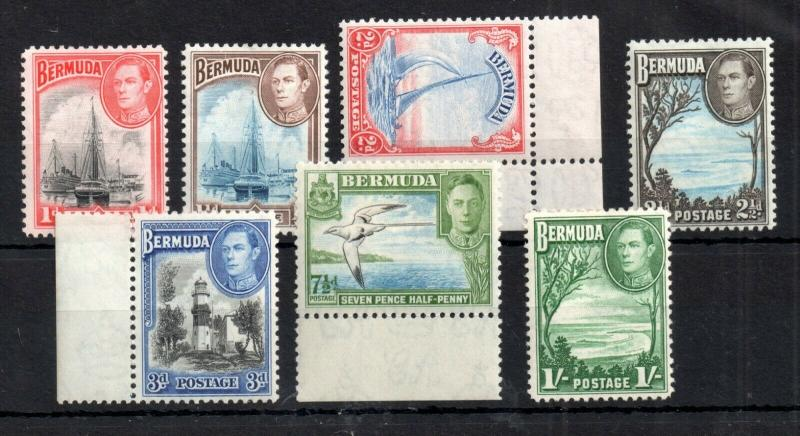 Bermuda KGVI 1938 mint LHM collection Cat Val £32 WS12730