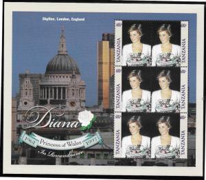 Tanzania  Scott 1758  MNH  Princess Diana