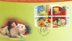Canada FDC, 2004, Pets. (CAFDC2057-60)