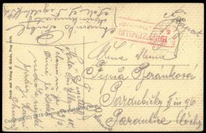 Austria WWI Navy Ship SMS Tegetthoff Marine Feldpost Cover 62776