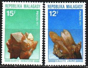 Madagascar. 1971. 627-28. Minerals, geology. MNH.