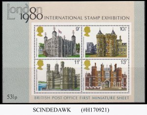 GREAT BRITAIN - 1980 INTERNATIONAL STAMP EXHIBITION LONDON 1980 MIN/SHT MNH