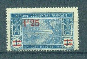 Ivory Coast sc# 87 mh cat value $1.25