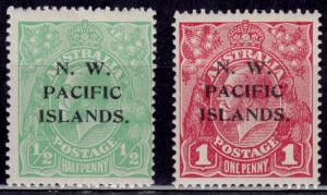 North West Pacific Islands 1915-16, KGV overprint, MH