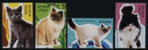 Ghana 2595-8 MNH Cats