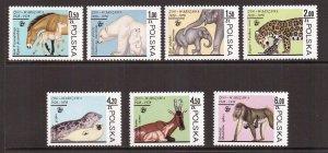 Poland  #2301-2307  MNH  1978  animals.  zoological gardens