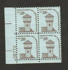 1604 Fort Nisqually, Washington Plate Block Mint/nh FREE SHIPPING